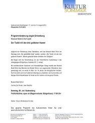 Programmänderung wegen Erkrankung Musical Mobil Erfurt spielt ...