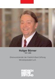 Holger Börner - Bibliothek der Friedrich-Ebert-Stiftung