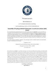 Immobilien-Projektgesellschaft Salamander-Areal ... - Börse Stuttgart