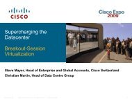 Routing LAN SAN Appl'n Delivery Security Servers - Cisco
