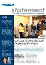GAA-Test im Donauzentrum: Feuerprobe bestanden - Diebold ...