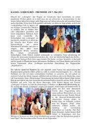 Kassel Lohengrin Pr. 07052011 - Suomen Wagner-Seura