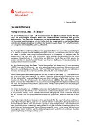 Pressemitteilung - Stadtsparkasse Düsseldorf