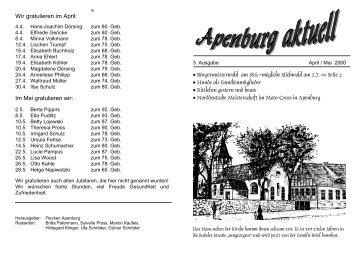 April-Mai 2000 - Altmärkischer Verein für vaterländische Geschichte ...