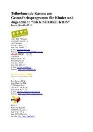 Liste der teilnehmenden Kassen Bayern - Kinder- & Jugendärzte im ...