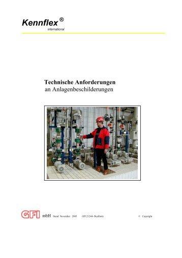 Technische Anforderungen an Anlagenbeschriftungen