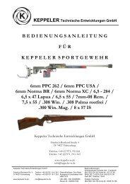 Gebrauchsanweisung für Keppeler Sportgewehr von Kaliber 6mm ...