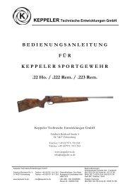 Gebrauchsanweisung für Keppeler Sportgewehr von Kaliber .22 Ho