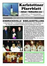 Pfarrblatt Advent - Weihnachten 2012 - Pfarre Karlstetten