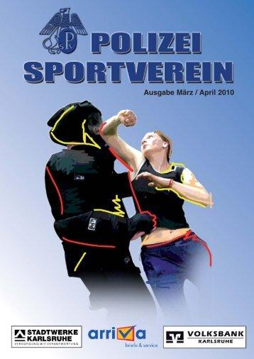 PSV-Journal März/April 2010 - Polizeisportverein Karlsruhe e.V.