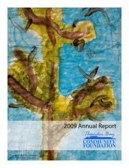 2009 Annual Report - Thunder Bay Community Foundation