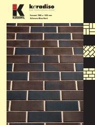 Format: 200 x 100 mm Schwarz-Blau-Bunt - KERAWIL