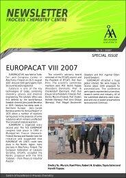 Europacat VIII Newsletter, Special Edition - Åbo Akademi