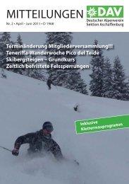 DAV Broschüre 2-2011_mzillertal.indd - Alpenverein-Aschaffenburg