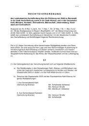 Rechtsverordnung Erklärung von Wald zu Bannwald - Stadt Alzenau