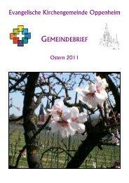 Gemeindebrief Ostern/Sommer 2011 - Evangelische ...