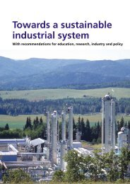 Towards a sustainable industrial system - EPSRC Centre for ...