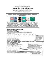 Library Bulletin - Spring 2012 PDF - Saint Ann's School