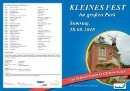 Inhalt S. 25 - Kalender - Kleines Fest