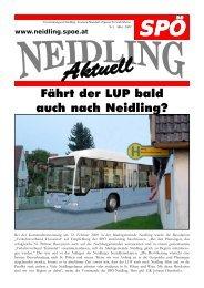 Fährt der LUP bald auch nach Neidling? - SPÖ Neidling