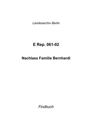 E Rep. 061-02 - Landesarchiv Berlin