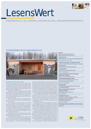 LesensWert 01/2011 - Regionalverband Niederösterreich-Mitte