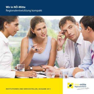 Wir in NÖ-Mitte Regionalentwicklung kompakt - Regionalverband ...