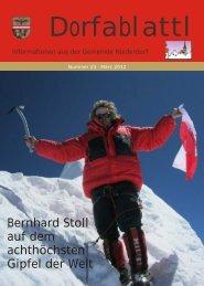 Bernhard Stoll auf dem achthöchsten Gipfel der Welt - Dorfablattl