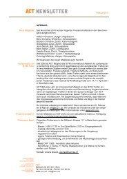 Newsletter Februar 2011 - ACT