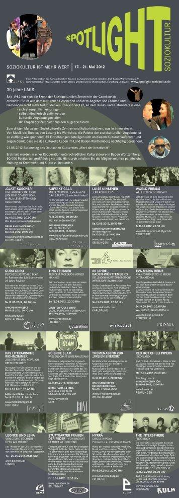 Flyer Spotlight (PDF) - Spotlight Soziokultur
