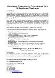Ausschreibung (pdf) - Freier Theaterverein Heidelberg