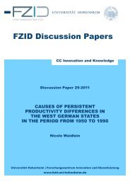 FZID Discussion Papers - FZID - Universität Hohenheim