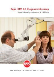 [06116] Prospekt Diagnosemikroskop SDM60 ... - Kaps Optik GmbH