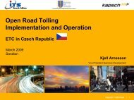 Open Road Tolling Implementation and Operation