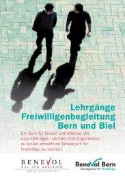 Lehrgänge Freiwilligenbegleitung Bern und Biel