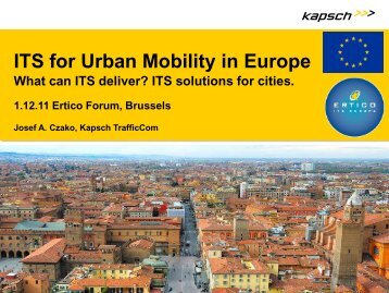 ITS for Urban Mobility in Europe - i-Mobility Network