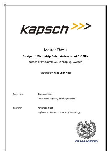 Master Thesis