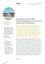 Zentralisierung und WAN- Optimierung senken IT-Kosten und ... - Citrix