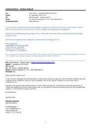 Administratorskema - Yderligere besvarelse - Siesbye Kapsch