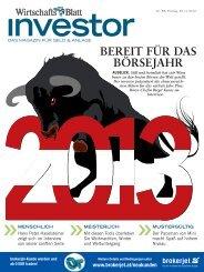 BEREIT FÜR DAS BÖRSEJAHR - wirtschaftsblatt.at