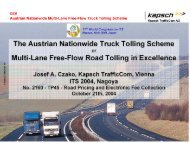 Austrian Nationwide Multi-Lane Free-Flow Truck Tolling Scheme