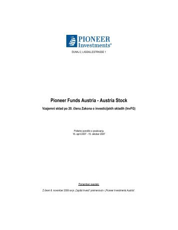 Pioneer Funds Austria - Austria Stock
