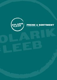 Preise & Sortiment - Kolarik und Leeb