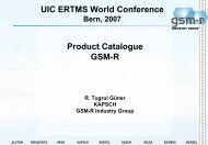 UIC ERTMS World Conference Product Catalogue GSM-R