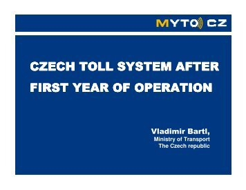 czech toll system after first year of operation - Transport & Environment