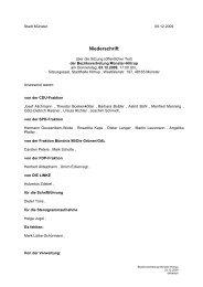 Niederschrift öffentlich - Sitzung 03.12.2009 Sitzung