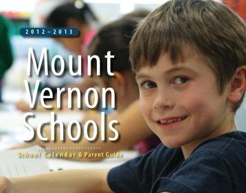School Calendar & Parent Guide - Mount Vernon School District