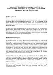 (AGB) für den Internethandel der Firma Karl ... - Kaps Optik GmbH