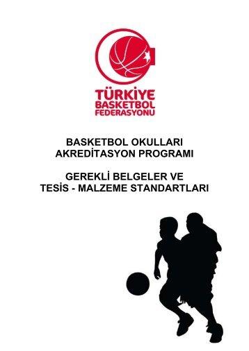 Basketbol Okulları Akreditasyon Programı - Gerekli Belgeler