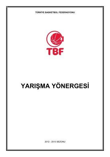 Yarışma Yönergesi - Türkiye Basketbol Federasyonu